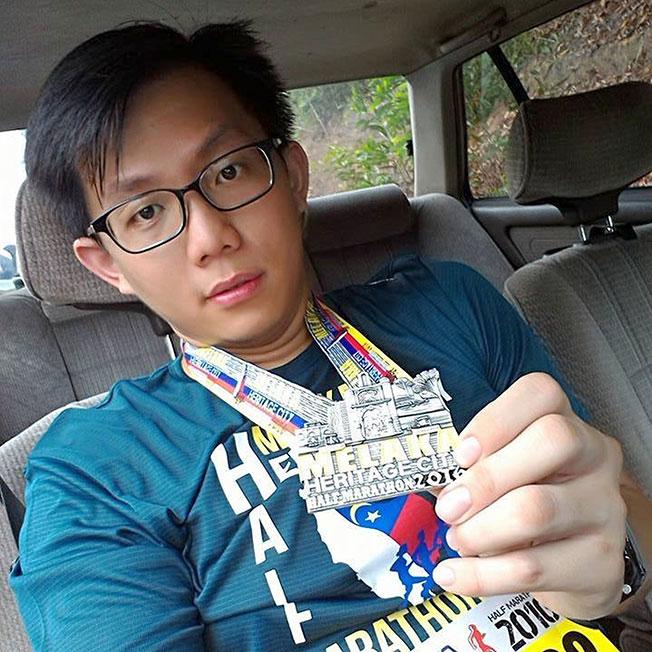 苏勇铨生前乐于助人,也喜欢运动和参与马拉松赛。(图取自苏勇铨面子书)