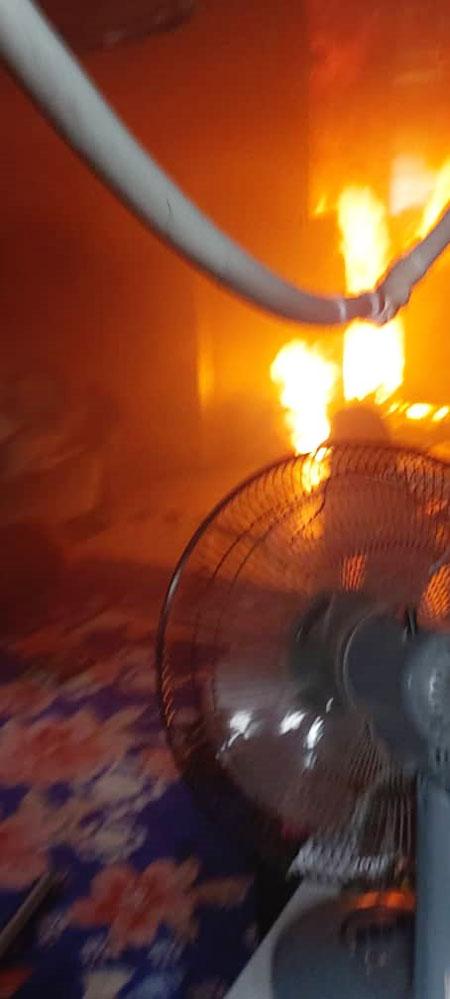 人民组屋单位发生火患,幸无人伤亡。