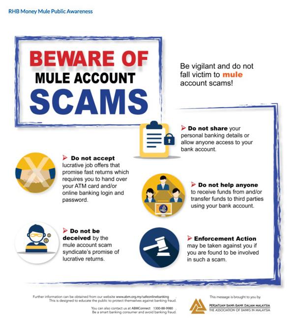 多家银行都极力宣传当钱骡的后果,以此提醒用户不要出借银行户头。