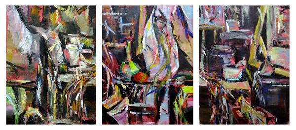卢碧玉求学时期的油画作品。