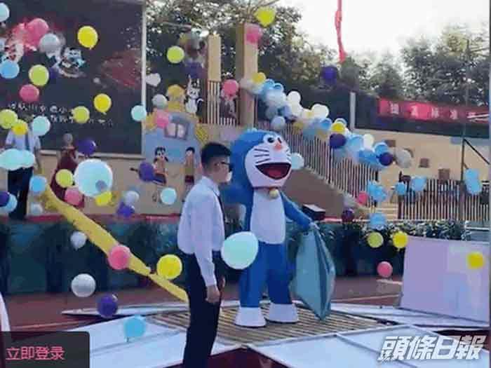 哆啦A梦的出现引来全场欢呼。