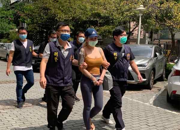 潘缘涉嫌从美国空运进口大麻到台湾,已遭警察逮捕。
