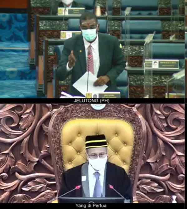 雷尔(上)提呈辩论消拯员莫哈末阿迪殉职案的动议,阿兹哈(下)表明将研究是否允许辩论。