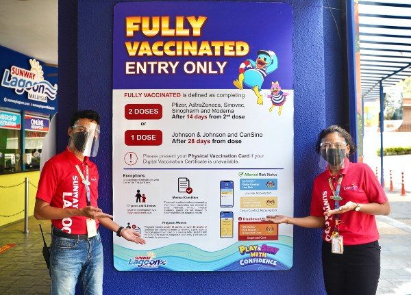 为了让访客玩得安全又安心,双威主题乐园定时消毒及严守SOP。